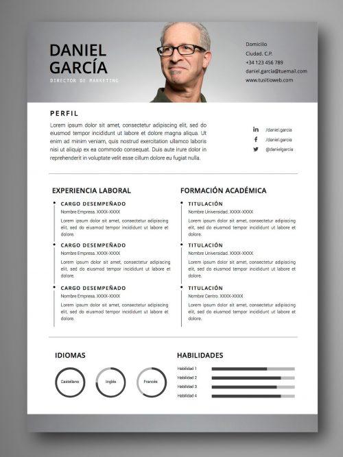 plantillas curriculum actor
