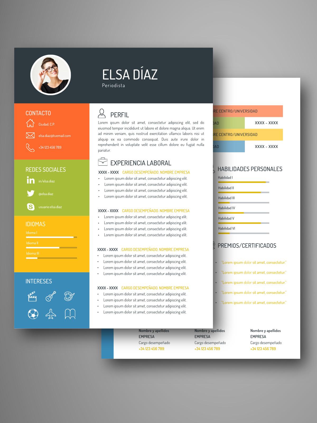 Currículum ATLANTA doble página | Empapelarte