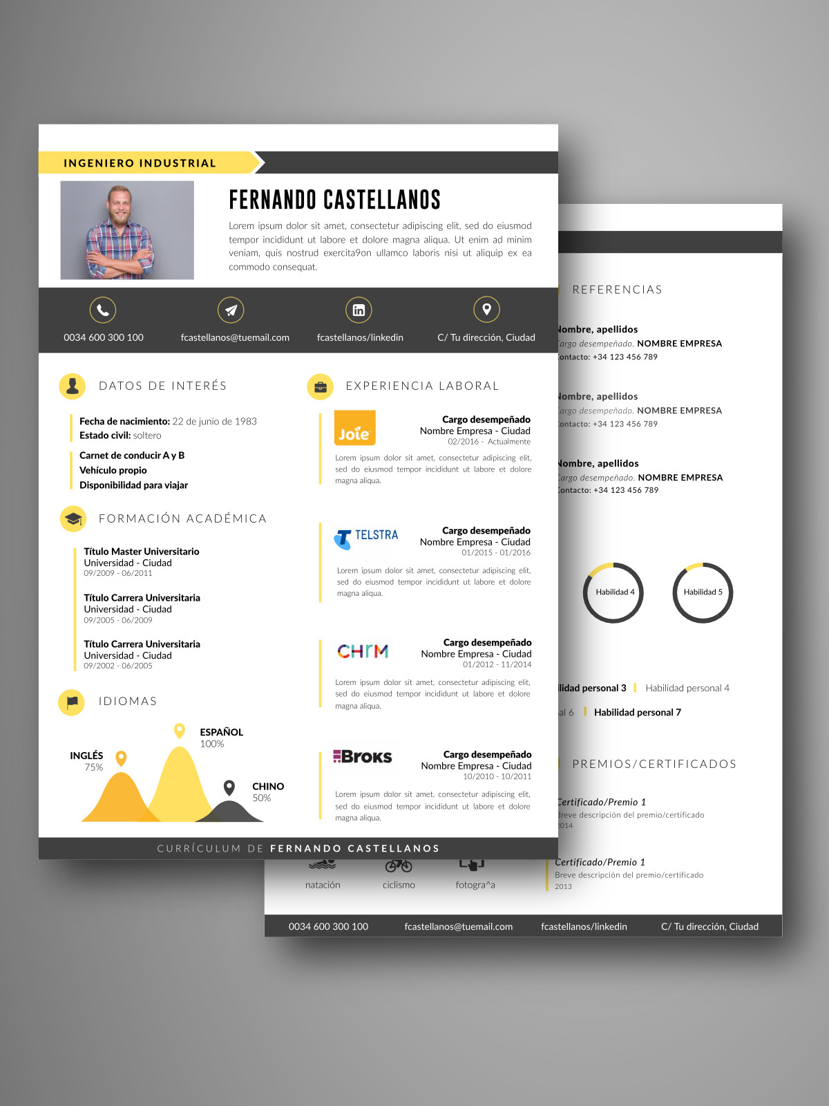 Currículum BUENOS AIRES doble página | Empapelarte