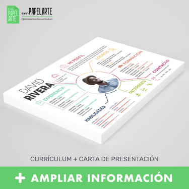 plantilla curriculum infografia