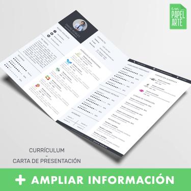 plantilla curriculum doble pagina