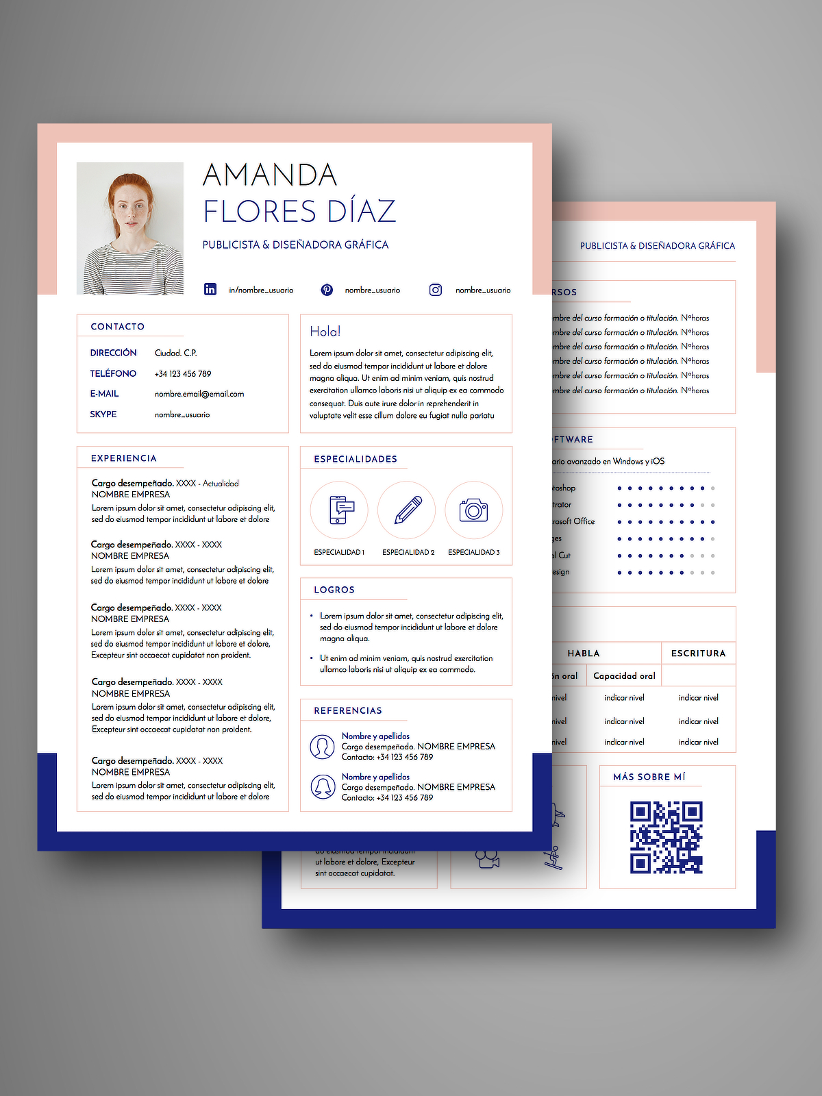 Currículum RECIFE doble página | Empapelarte