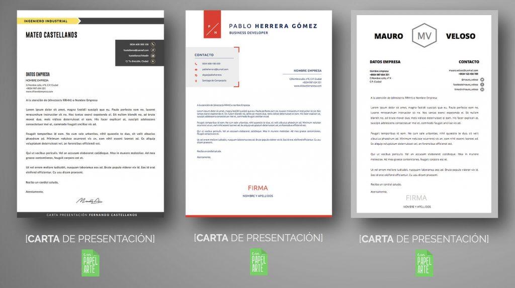 ESTRUCTURA Y ENVIO DE CARTA PRESENTACIÓN | EMPAPELARTE