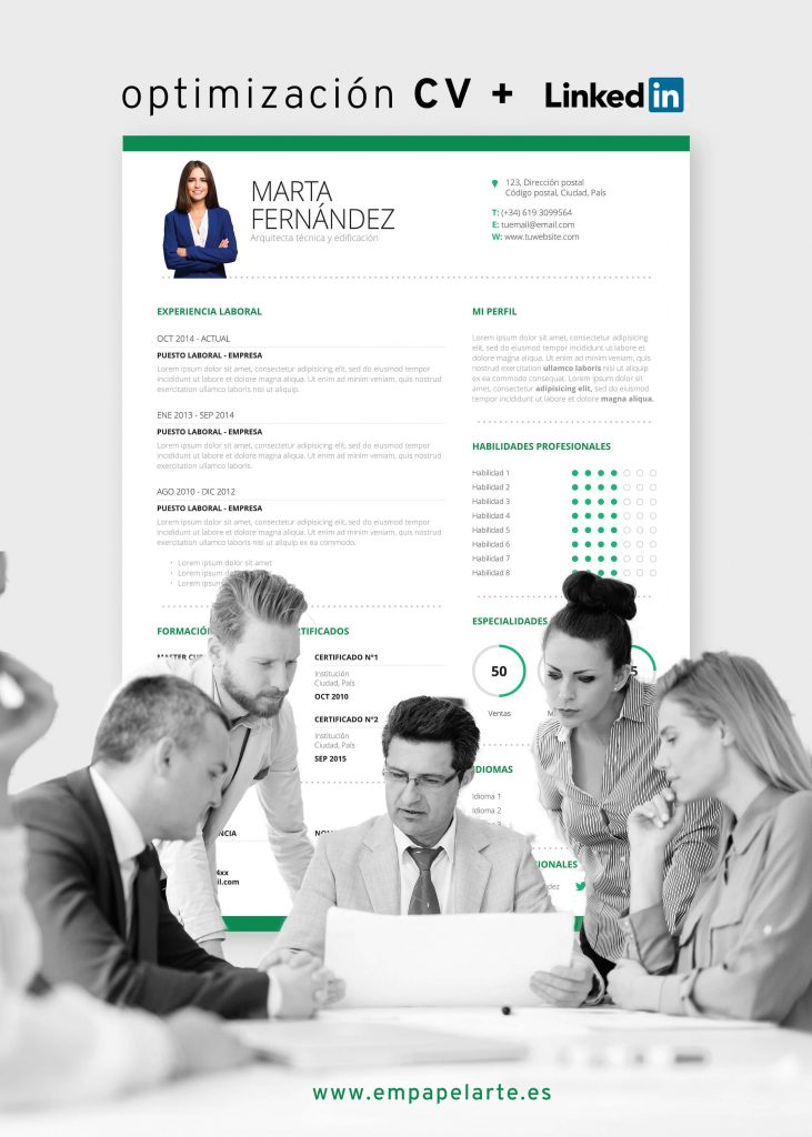 Servicio de Redacción y Diseño de Currículum y Linkedin