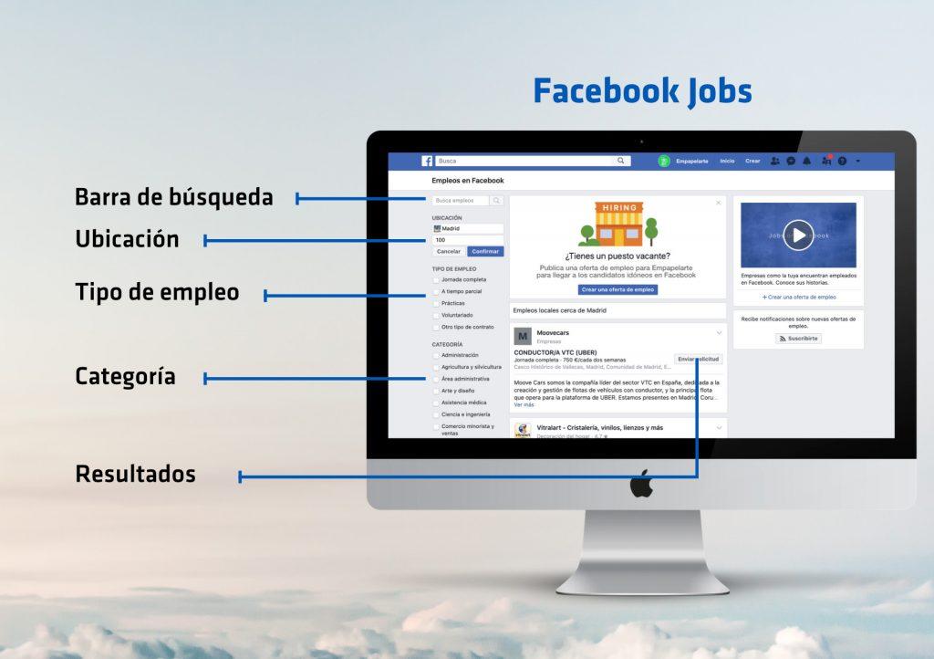 Buscar trabajo en Facebook Jobs