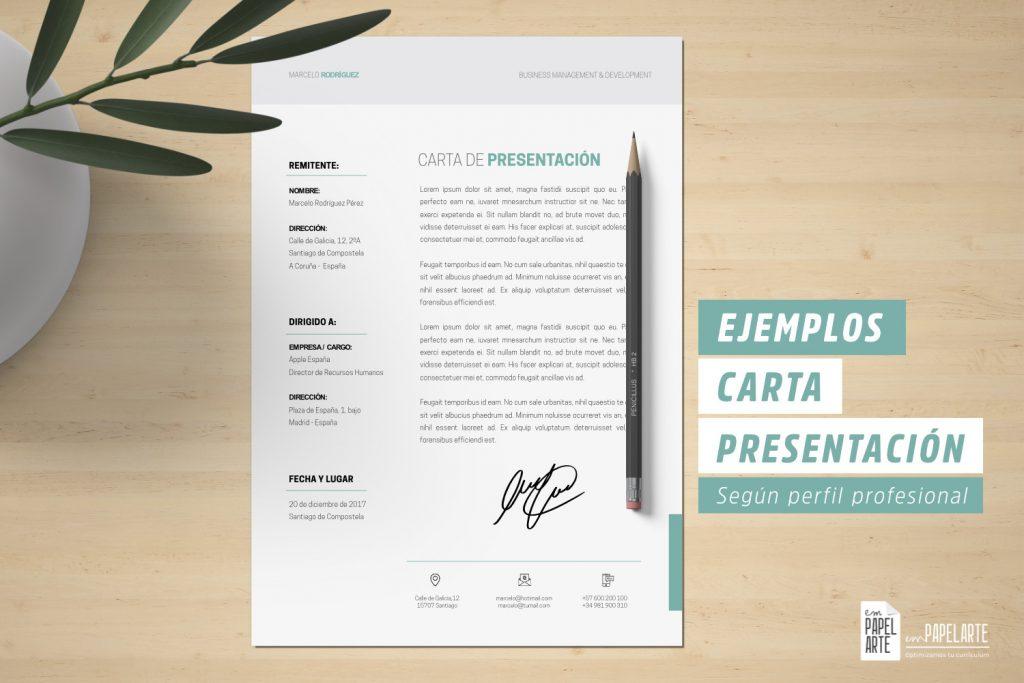 carta presentacion ejemplos perfil profesional