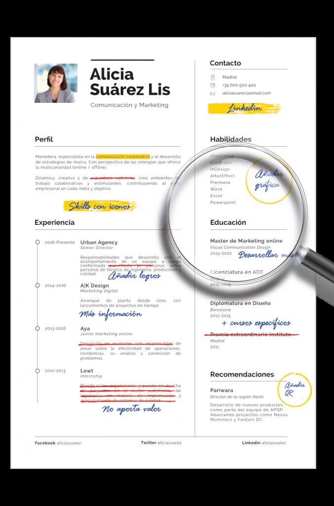 analisis y evaluacion curriculum vitae empapelarte