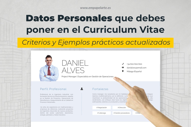 datos personales que debes meter en el curriculum
