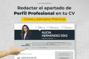 redactar el perfil profesional de tu cv