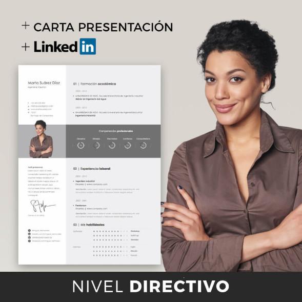 nivel directivo cv linkedin carta